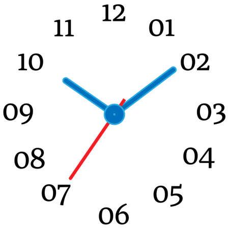 Illustration of mechanical clock.
