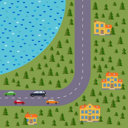 Plan of village