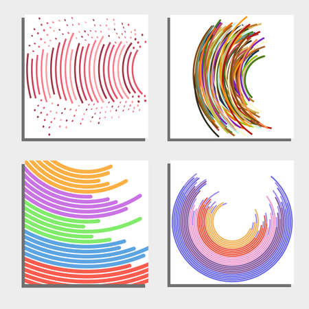 twist: Set of four beautiful abstract backgrounds. Vector illustration.