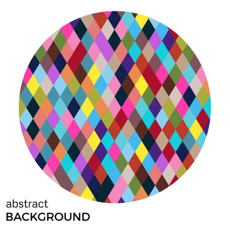 chromatic: Colorful circle of rhombuses isolated on white background. Abstract vector background.