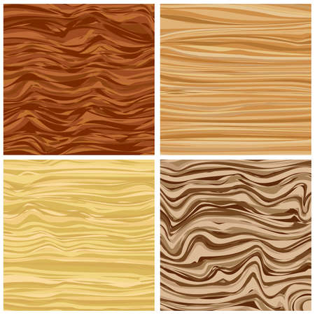 Set of four abstract wood texture in flat design. Zdjęcie Seryjne - 85358485