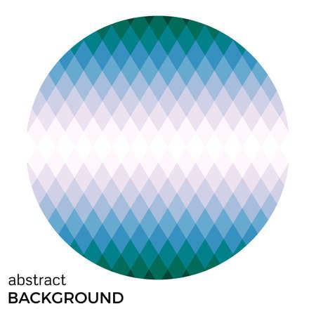 Colorido círculo de rombos aislados sobre fondo blanco. Fondo abstracto del vector. Foto de archivo - 85575366