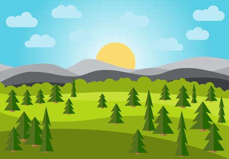 Landscape illustration.