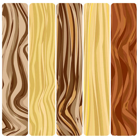 Five wooden boards. Vector abstract wood texture in a flat design. Zdjęcie Seryjne - 94537651