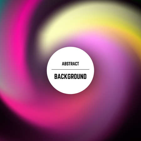 Abstract colorful background with swirl effect and circle in center. Vector illustration.