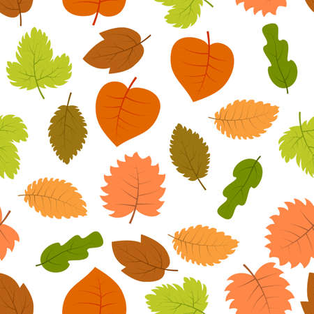 Seamless pattern with autumn leaves. Vector illustration. Illusztráció