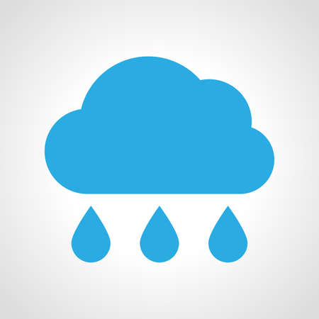 Cloud rain Icon. Multicolored weather icon on white background. Vector illustration.