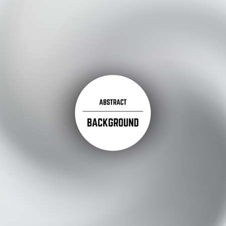 Abstract monochrome background with swirl effect and circle in center. Vector illustration.