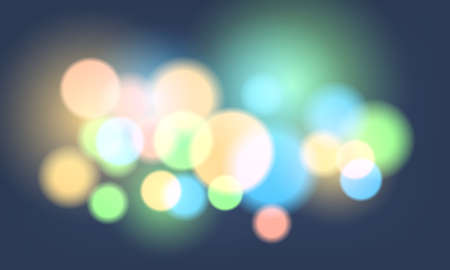 Abstract colorful bokeh background with lights and lens flare. Vector illustration. 矢量图像