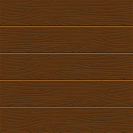 Wood texture background. Five wooden boards in flat design. Vector illustration