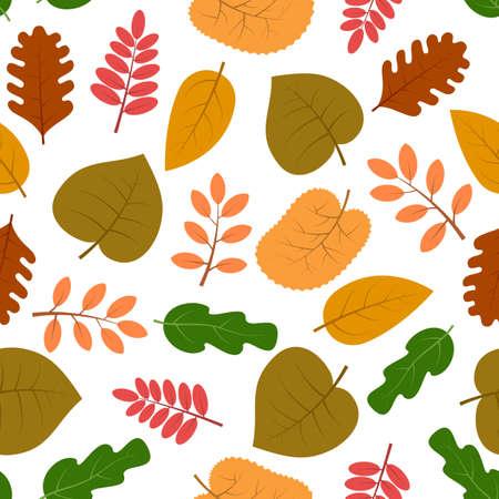 Seamless pattern with autumn leaves. Vector illustration. Illustration