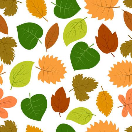 Seamless pattern with autumn leaves. Vector illustration. 일러스트