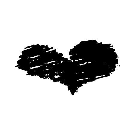 Sketch Scribble Heart. Hand drawn Pencil Scribble Hearts. Vector illustration.
