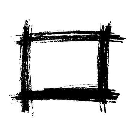 Sketch Scribble Smear Square Frame. Hand drawn Pencil Scribble. Vector illustration. Illustration