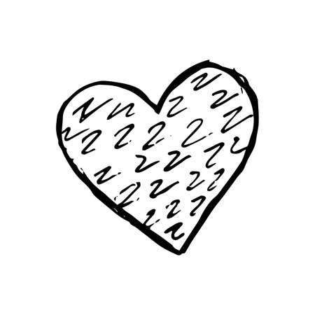 Sketch Scribble Heart. Hand drawn Pencil Scribble Hearts. Vector illustration