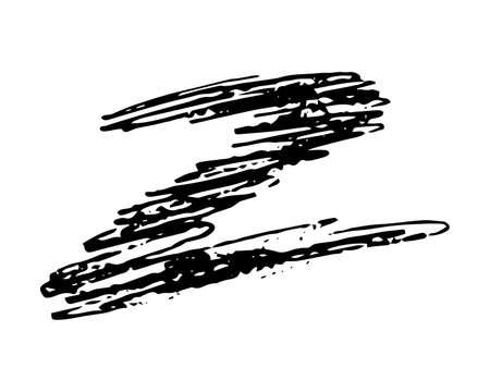 Sketch Scribble Smear Zigzag. Hand drawn Pencil Scribble. Vector illustration. Illustration