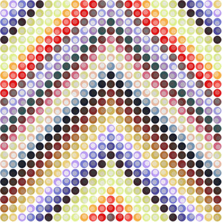 Abstract Dotted Colorful Background Texture. Abstract background with colored circles.  Abstract round seamless pattern.