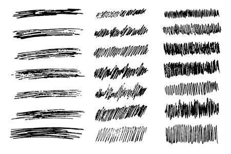 Set of twenty one Sketch Scribble Smear Rectangles. Hand drawn Pencil Scribble. Vector illustration.