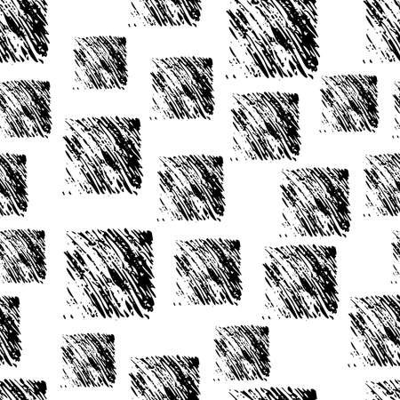 Seamless Pattern with hand drawn black scribble Smear. Abstract grunge texture. Vector illustration