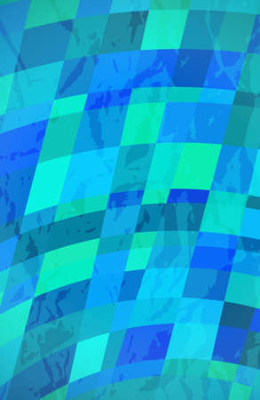 Abstract textured background with blue colorful rectangles. Stories banner design. Beautiful futuristic dynamic geometric pattern design. Vector illustration Illusztráció