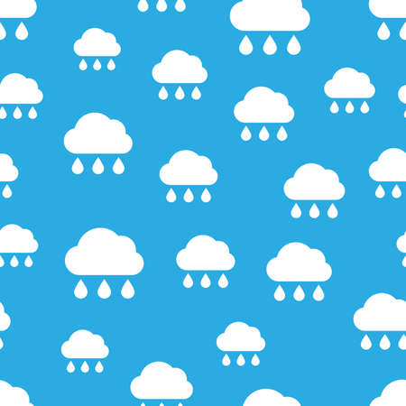 Rainy cloud. Seamless pattern of rainy clouds. Bad weather symbol. Vector illustration. Фото со стока - 130095643