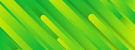 Trendy geometric green background with abstract lines. Banner design. Futuristic dynamic pattern. Vector illustration 写真素材 - 130007568