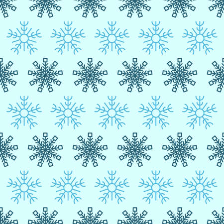 Seamless background with snowflakes. Christmas and New Year decoration elements. Vector illustration.
