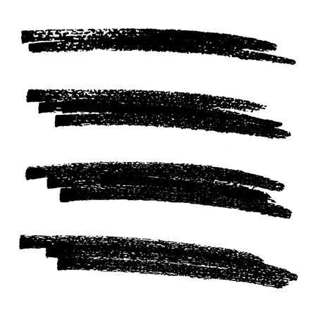 Esquisse Scribble Frottis. Coup de pinceau à l'encre noire et dessin au crayon ; grande conception pour n'importe quel but. Illustration vectorielle. Vecteurs