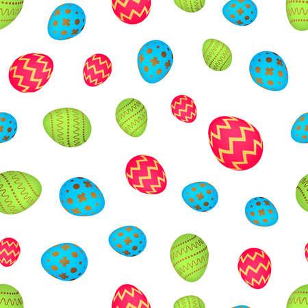 Seamless pattern with colorful Easter eggs. Vector illustration Illusztráció