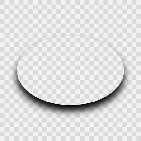 Dark transparent realistic shadow. Oval shadow isolated on transparent background. Vector illustration. Иллюстрация