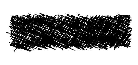 Sketch scribble smear. Black pencil drawing in the shape of a rectangle on white background. Great design for any purposes. Vector illustration.