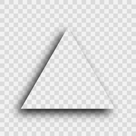 Dark transparent realistic shadow. Triangle shadow isolated on transparent background. Vector illustration. Иллюстрация