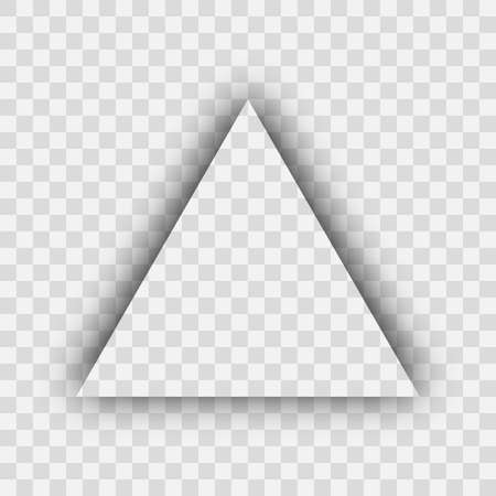 Dark transparent realistic shadow. Triangle shadow isolated on transparent background. Vector illustration.  イラスト・ベクター素材