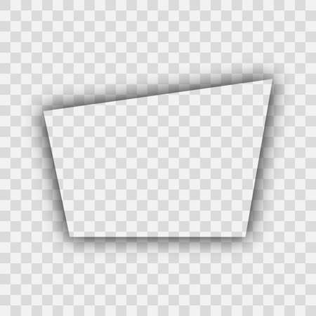 Dark transparent realistic shadow. Trapezoid shadow isolated on transparent background. Vector illustration.