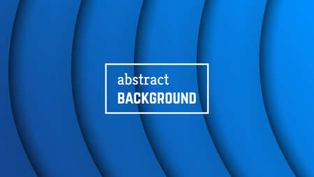 Abstract minimal line geometric background.  Blue line layer shape for banner, templates, cards. Vector illustration.  イラスト・ベクター素材