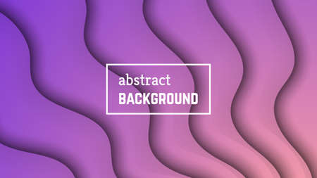 Abstract minimal wave geometric background.  Violet wave layer shape for banner, templates, cards. Vector illustration. Vectores