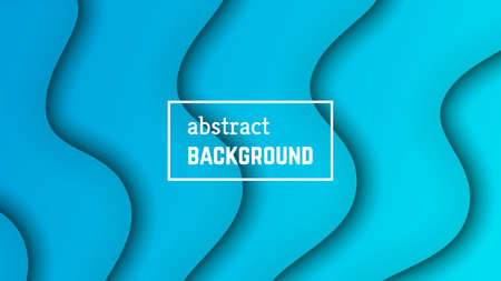 Abstract minimal wave geometric background.  Blue wave layer shape for banner, templates, cards. Vector illustration.