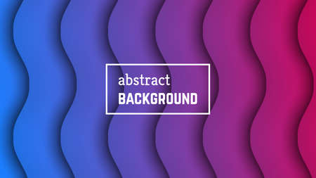 Abstract minimal wave geometric background.  Purple-blue wave layer shape for banner, templates, cards. Vector illustration.