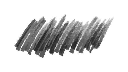 Scribble with a black marker. Doodle style scribble. Black hand drawn design elements on white background. Vector illustration Illusztráció