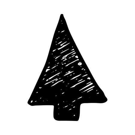 Black hand drawn arrow. Sketch of doodle arrow isolated on white background. Vector illustration.