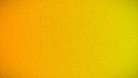 Abstract geometric gradient circles background. Yellow dot background with empty space. Vector illustration.
