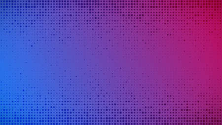 Abstract geometric gradient circles background. Purple and blue dot background with empty space. Vector illustration.
