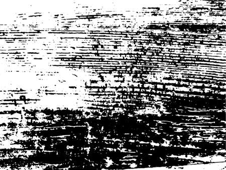 Grunge natural wood monochrome texture. Abstract wooden surface overlay background in black and white. Vector illustration