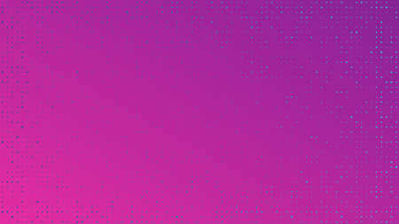 Abstract geometric background of squares. Purple pixel background with empty space. Vector illustration. Ilustracja
