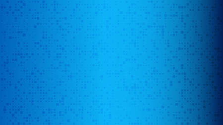 Abstract geometric background of squares. Blue pixel background with empty space. Vector illustration.