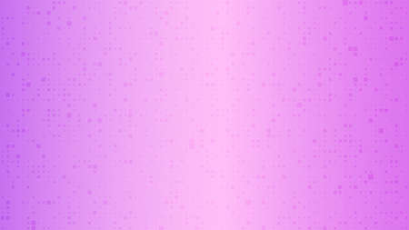 Abstract geometric background of squares. Purple pixel background with empty space. Vector illustration. 向量圖像