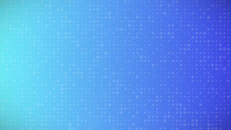 Abstract geometric background of sircles. Blue pixel background with empty space. Vector illustration.