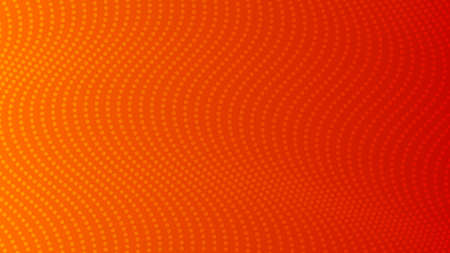 Halftone gradient background with dots. Abstract orange dotted pop art pattern in comic style. Vector illustration 矢量图像