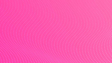 Halftone gradient background with dots. Abstract pink dotted pop art pattern in comic style. Vector illustration