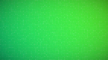 Abstract geometric background of sircles. Green pixel background with empty space. Vector illustration. Ilustrace